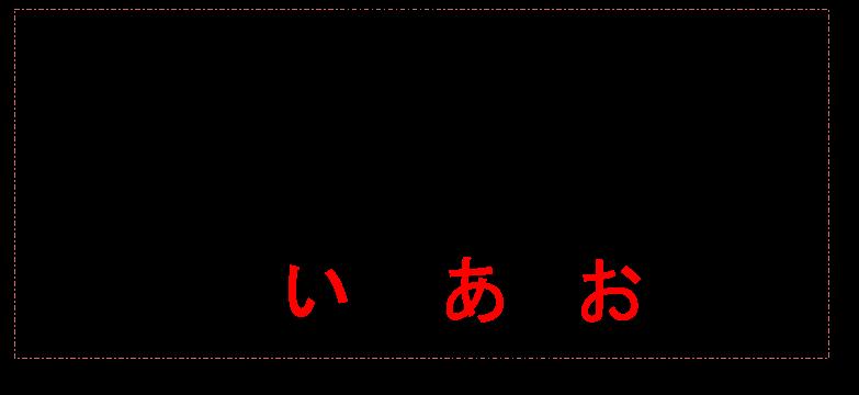 母音を使って歌うイメージ