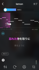 Pokekara - 採点カラオケアプリ歌唱時画面