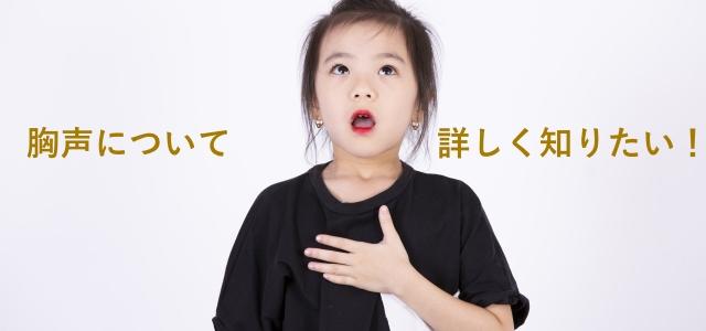 胸声(チェストボイス)とはどんな声か、出し方はどうすればいいのかが分かる記事